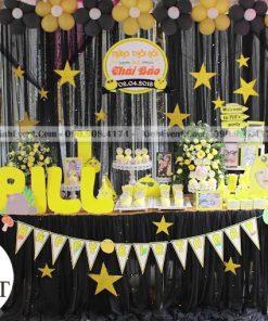 Trang trí bàn sinh nhật chủ đề đen trắng XV010