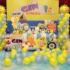 Trang trí bàn sinh nhật chủ đề hải dương cho bé XV011