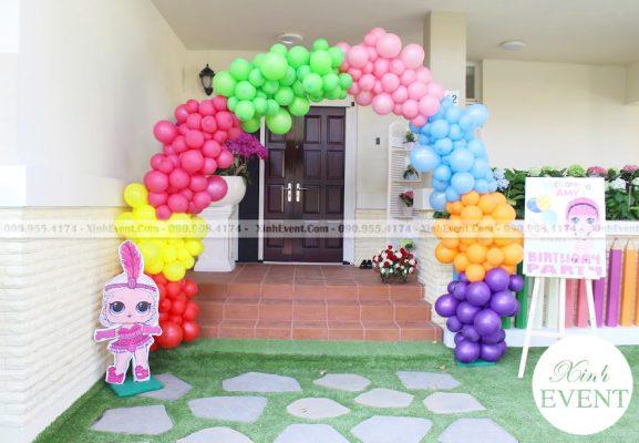 Cổng chào trang trí sinh nhật đẹp