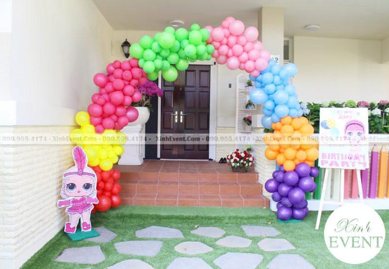 Cổng chào trang trí sinh nhật nhiều màu XV012