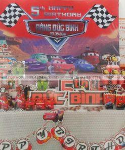 Bàn sinh nhật trang trí chủ đề xe hơi dễ thương cho bé trai XV019