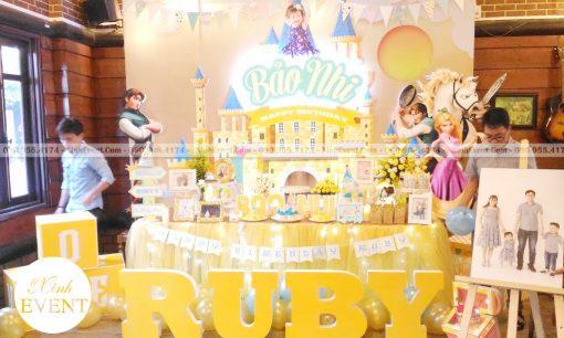 Trang trí bàn sinh nhật chủ đề công chúa tóc dài Tangled XV021