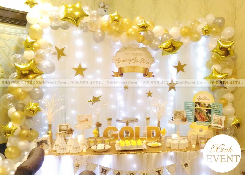 Trang Trí Bàn Sinh Nhật Theo Chủ Đề GOLD XV023