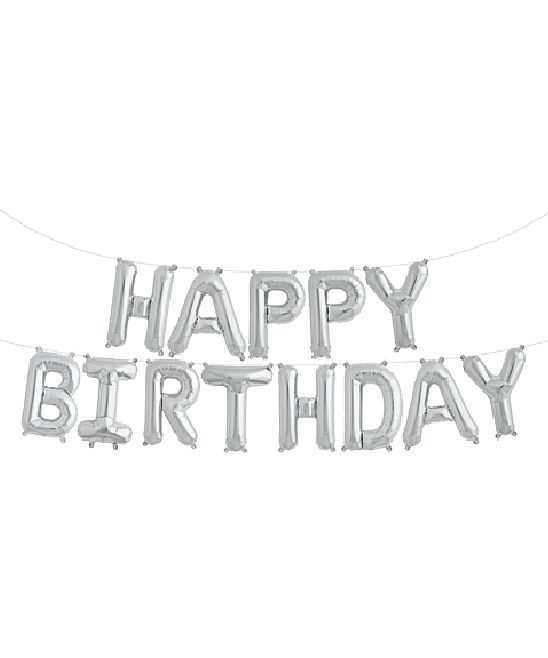 Dây và chữ bạc happy birthday