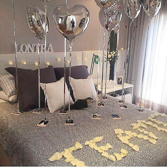 Trang trí phòng sinh nhật cho người yêu đơn giản