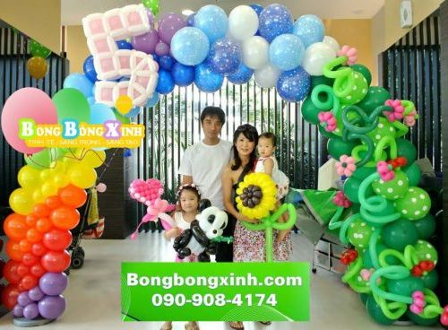 Cổng chào trang trí thôi nôi, sinh nhật cho bé XV025