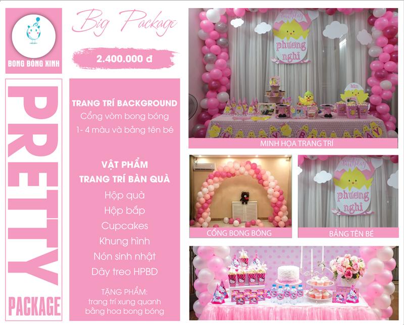 Tổ chức sinh nhật trọn gói PRETTY 01