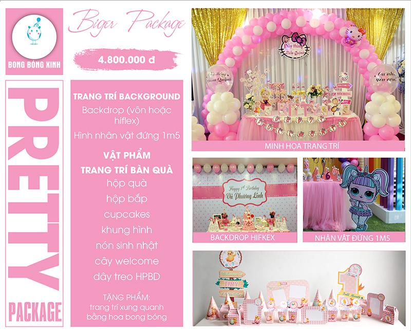 Tổ chức sinh nhật trọn gói PRETTY02