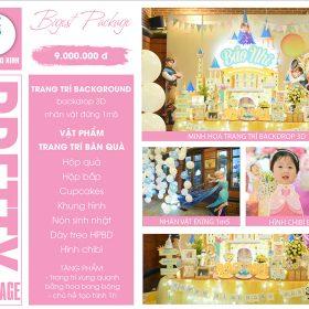 Tổ chức sinh nhật trọn gói PRETTY 03 - 9.000.000 VNĐ