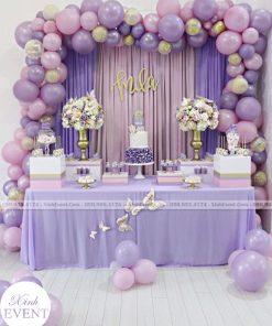 Bàn sinh nhật màu tím sang trọng XV047