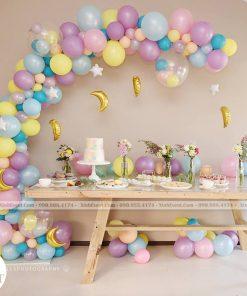 Bàn sinh nhật decor đơn giản cho bé XV053