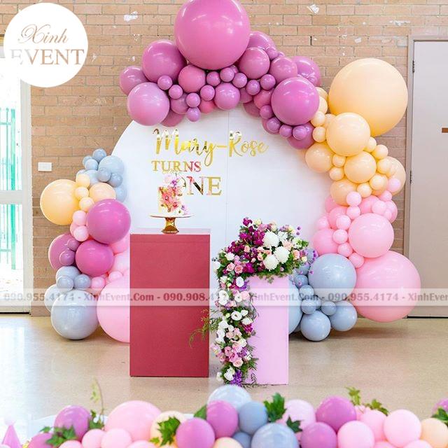 Backdrop sinh nhật chuyên dùng trong sự kiện sang trọng XV059