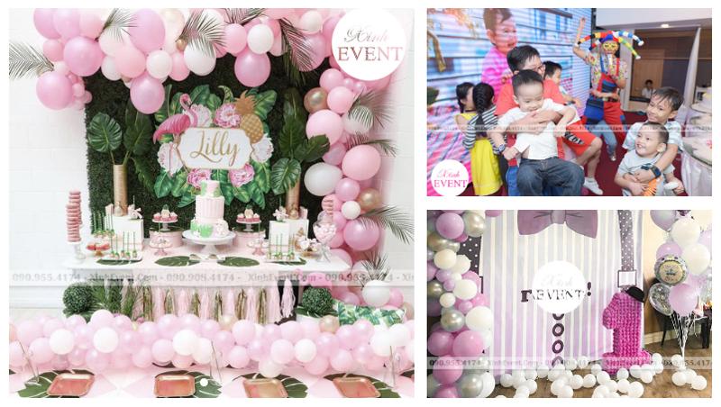 Bộ trang trí sinh nhật trọn gói Love Pink dành cho bé gái giá 6,210,000