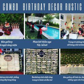 Tổ chức sinh nhật trọn gói với chủ đề Rustic độc đáo MAX01