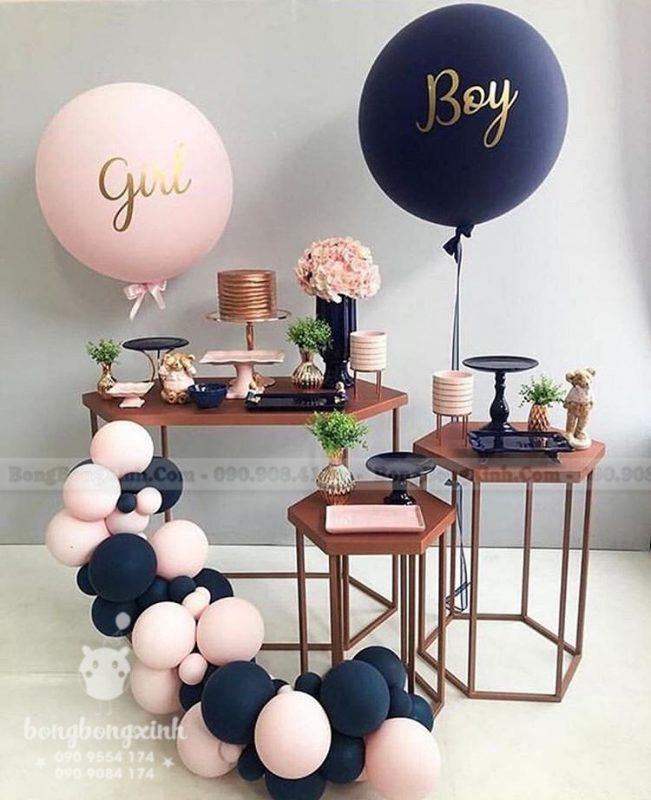 bàn sinh nhật chủ đề màu hồng thiết kế theo phong cách giản dị