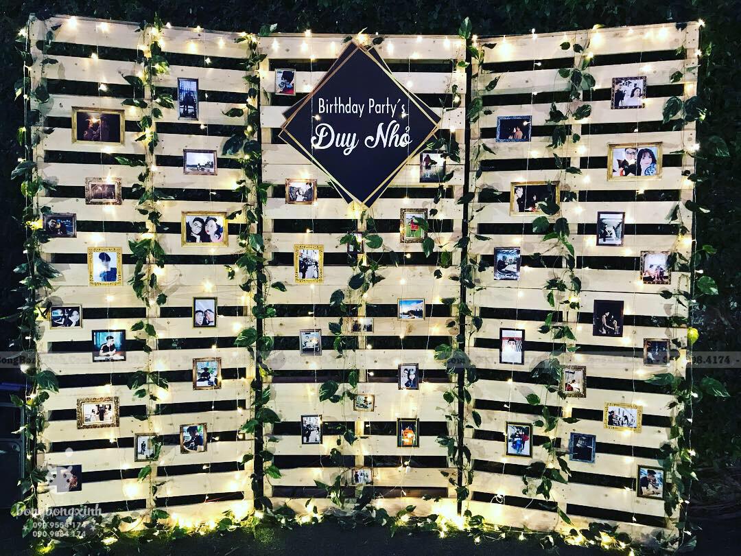 Backdrop trang trí sinh nhật đẹp cho bạn trai mà Xinh Event đã thực hiện
