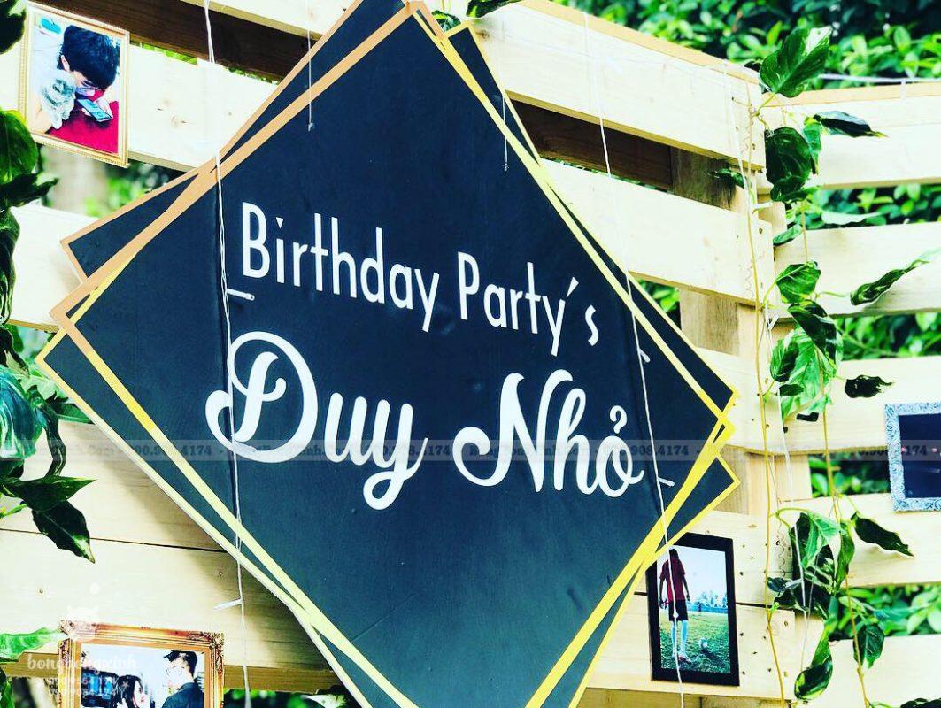 Bảng tên tổ chức sinh nhật trọn gói Rustic