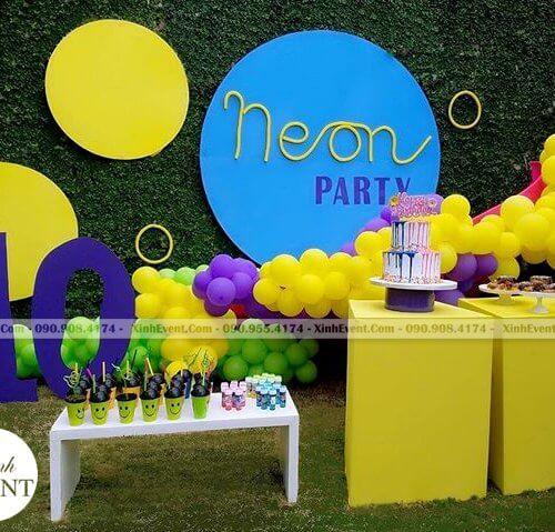 Backdrop sinh nhật sáng tạo cho bé trai 10 tuổi XV108