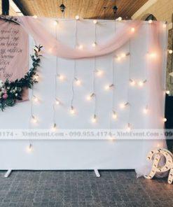 Backdrop tiệc cưới format và đèn XV096
