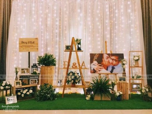 Backdrop tiệc cưới phong cách du mục BRC025