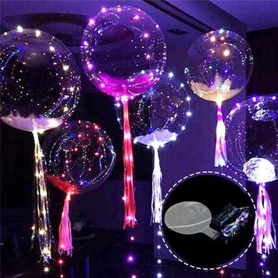 Trang trí tiệc sinh nhật với đèn led