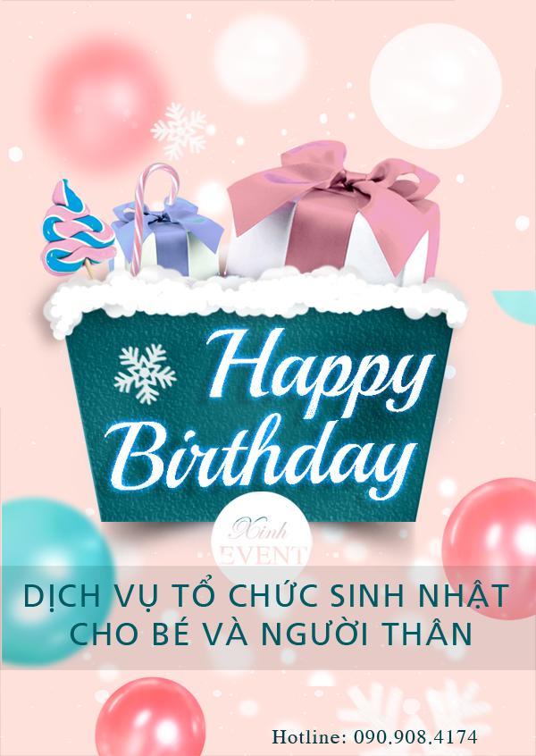 Banner quảng cáo tổ chức sinh nhật