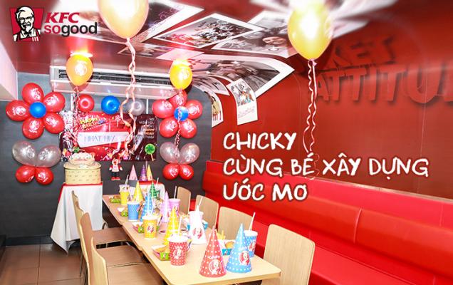 Tổ chức sinh nhật tại KFC