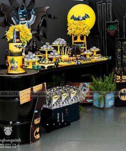 Trang trí bàn sinh nhật chủ đề siêu anh hùng BATMAN XV072