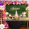 Bàn sinh nhật cho người lớn sang trọng với chủ đề màu hồng XV214