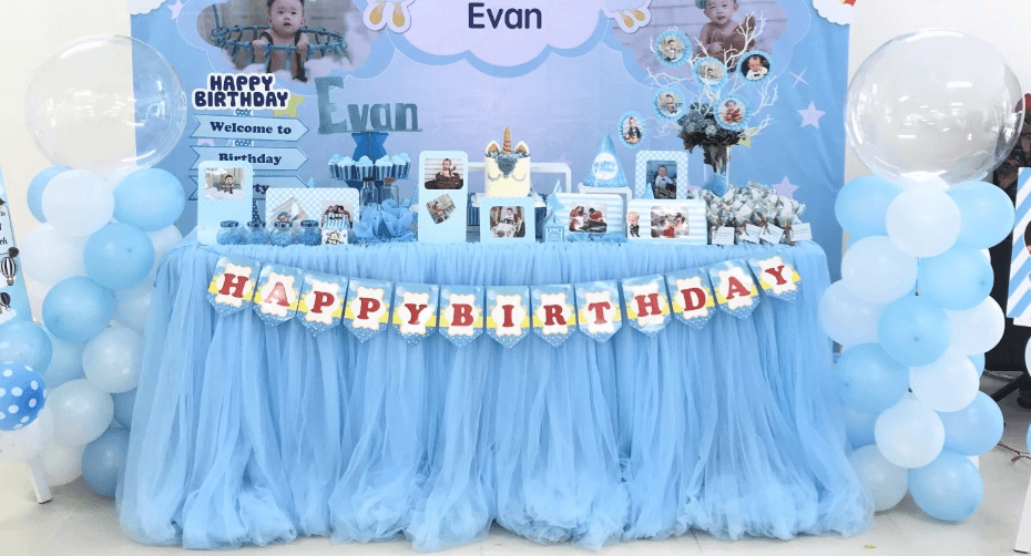 Cách trang trí sinh nhật nếu muốn tổ sử dụng các dịch vụ trang trí sự kiện