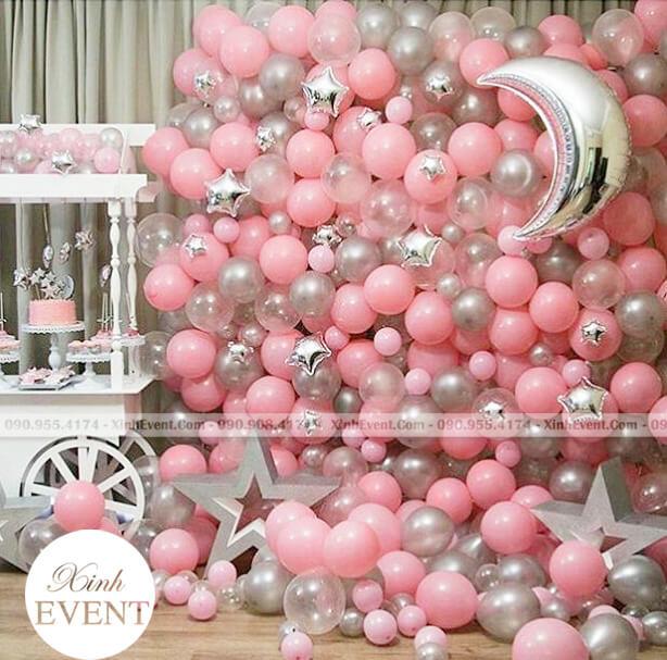 Backdrop sự kiện bằng bong bóng cực độc XV223