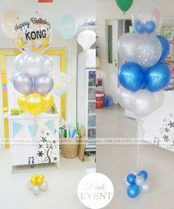 Trụ bong bóng sinh nhật kết hợp bóng jumbo XV142