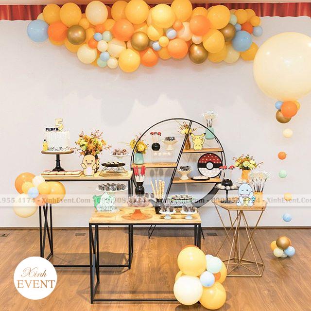 Trang trí bàn sinh nhật Pokemon XV115