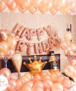Trang trí bong bóng sinh nhật bất ngờ tại nhà màu cam XV228