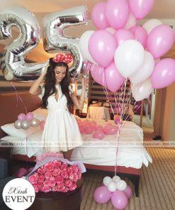 Trang trí phòng ngủ cùng bóng bay sinh nhật bất ngờ XV227