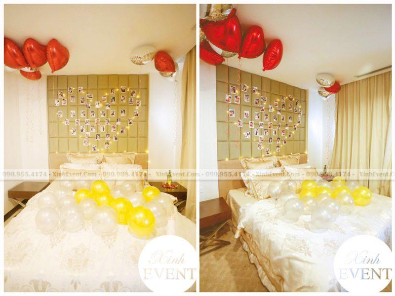 Trang trí phòng ngủ tại nhà với bong bóng đơn giản XV147