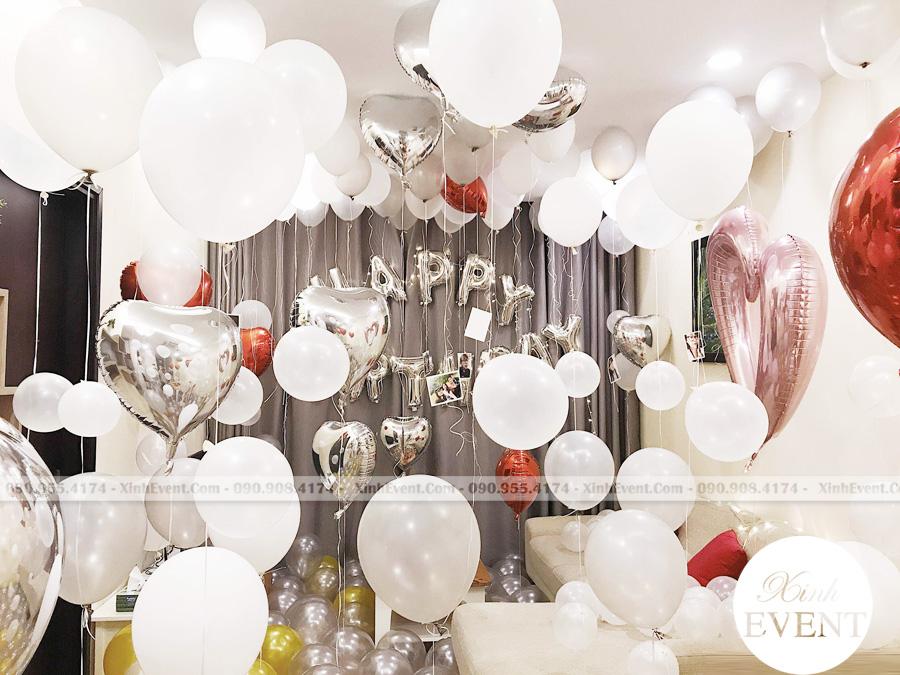 Trang trí phòng sinh nhật cho bé với bong bóng xinh đẹp