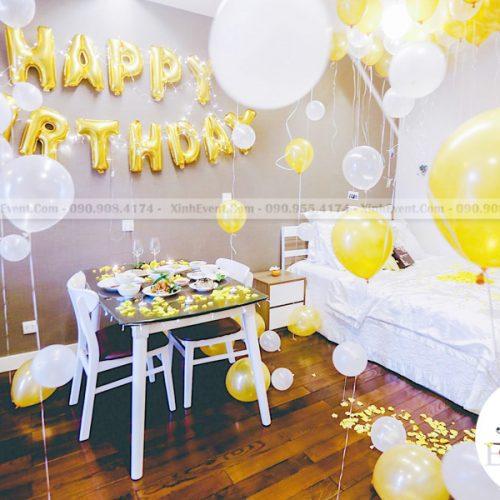 Trang trí sinh nhật tại nhà đơn giản cùng bong bóng sinh nhật XV145
