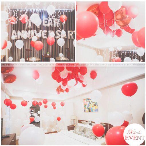 Trọn bộ trang trí sinh nhật tại nhà với bong bóng XV141