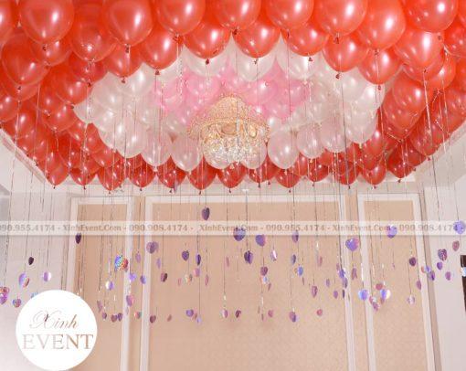 Trang trí trần nhà với bóng bay sinh nhật màu đỏ XV155
