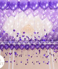 Trang trí trần nhà với bóng bay sinh nhật màu tím XV153