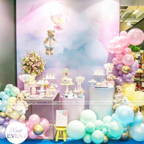 Bộ bàn quà sinh nhật cho bé gái dễ thương XV198