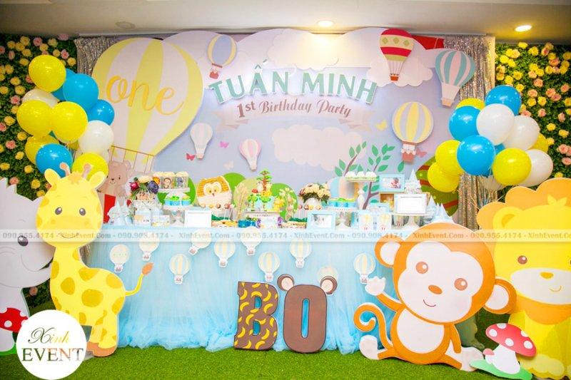 Bàn trang trí tiệc sinh nhật 3D cực đẹp cho bé yêu XV203