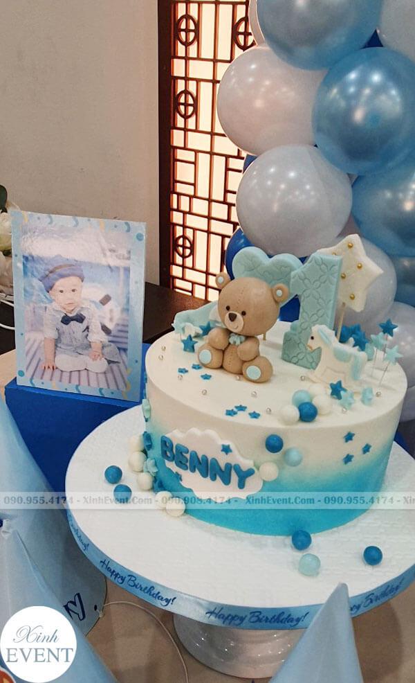 Bánh kem tại bữa tiệc sinh nhật của bé Đăng Khôi