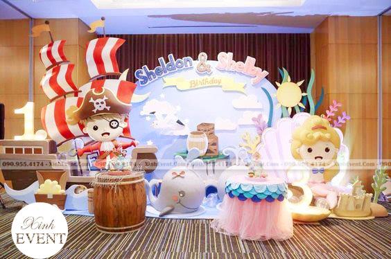 Trang trí sinh nhật 3D với chủ đề cướp biển cho bé trai