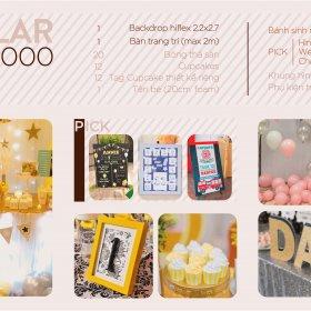 Gói sinh nhật trọn gói regular chất lượng và đầy đủ những thứ bạn cần