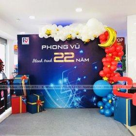 Trang trí ngày kỷ niệm 22 năm thành lập tại Phong Vũ