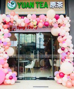 Cổng chào trang trí hoa và bong bóng XV250