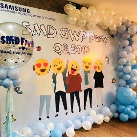 Trang trí lễ kỷ niệm tại chi nhánh Samsung