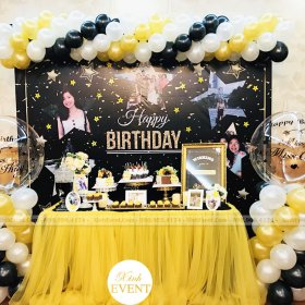 Trang trí tiệc sinh nhật khách hàng Ngọc Thủy